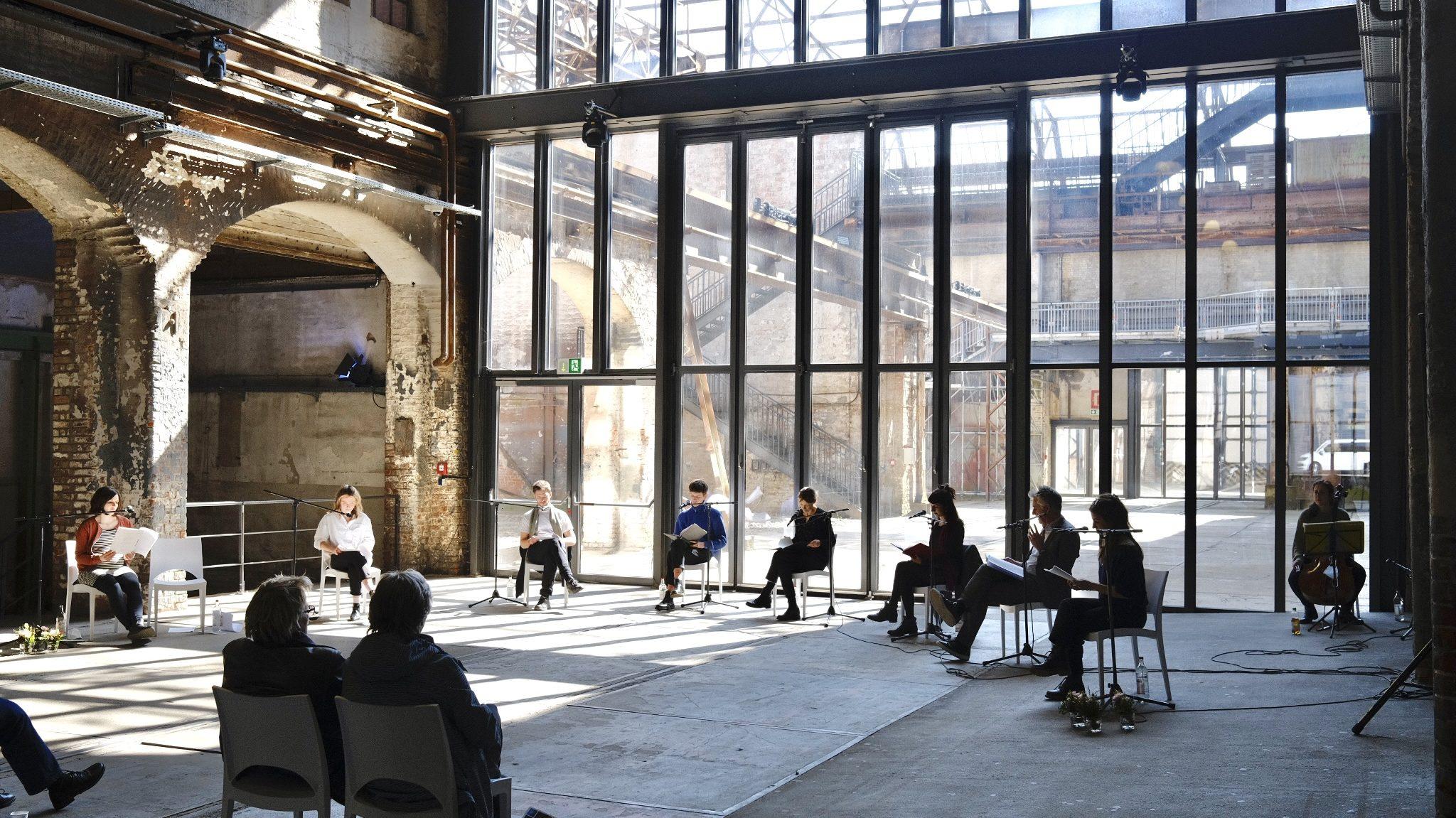 Drehbuchlesung am 17.April 2021 in der Kulturwerft Gollan